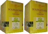 2 Fontaines à vin blanc Saint Bris 2015 -cubi longue conservation- Bag in Box